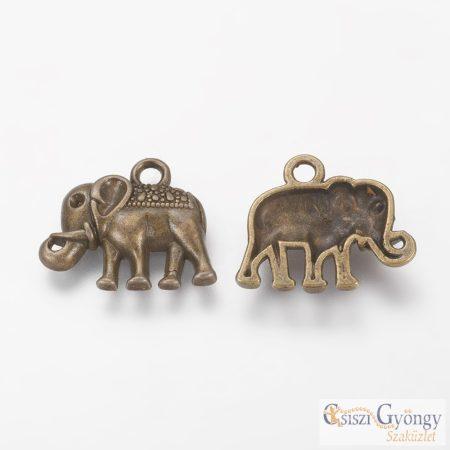 Pedant - 1 pcs. - antique bronze color, size: 17 mm