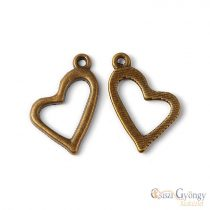 Pedant - 1 pcs. - antique brass color, size: 20 mm