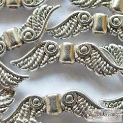 Angyalszárny, antik ezüst színű, mérete: 23 mm, furat: 1.5 mm,  - 10 db