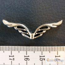 Angyalszárny - 1 db - fényes ezüst színű, hossza: 39 mm