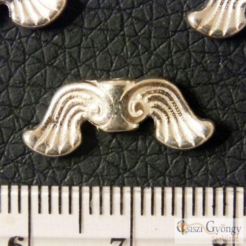 Angyalszárny - 1 db - antik ezüst színű angyalszárny, szélessége: 18 mm, furat: 1.5 mm