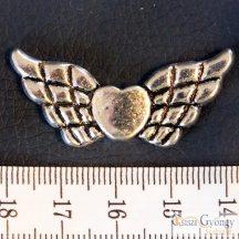 Angyalszárny - 1 db - antik ezüst színű, mérete: 40 mm