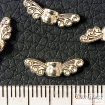 Angyalszárny - 1 db - fényes ezüst színű, hossza: 14 mm