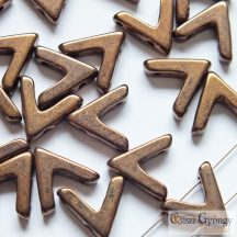 Bronze - 1 db - AVA gyöngy, mérete: 10x4 mm