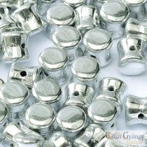 Silver- 30 pc. - Pellet beads, size: 4x6 mm