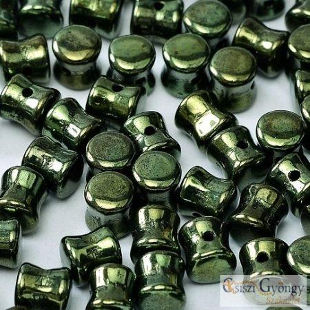 Metallic Olivine - 30 db - Pellet gyöngy 4x6 mm