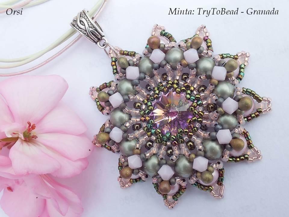 TryToBead Granada mintája púder pastel gyöngyökből